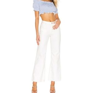 Free People High-Rise Straight Flare Jean White 29